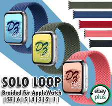Apple Watch Sport Armband Series SE/6/5/4/3 Geflochtenes Uhrenarmband Solo Loop