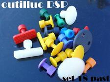 1 set de 18 pastilles pour  DSP par collage diam 10à40