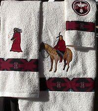 """Native American Looking """"Last Hunt"""" Towel Set"""