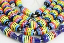 Rainbow  Ceramic Beads   *       FAIR TRADE    Assorted shapes   Glazed mix x 25