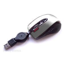 Sensor láser 7 botones 1600dpi Mini Retractil Usb Pc Mouse En Plata