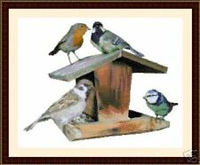 Bird Table, Cross Stitch Kit