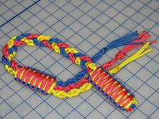 paracord 550 decorative whip superman red blue yellow wall hanger cord