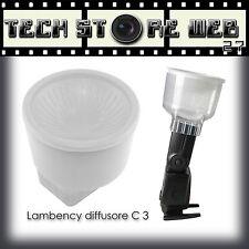 LAMBENCY C3 DIFFUSORE FLASH NIKON SB26 SB27 SB28 D3000 D3100 D3200 D5000 D5100