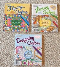 Lot Of 3 New Autumn/Fall, Floral,Paisley Adult Coloring Books BN Grown Up, Relax