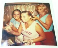 Mom Doing College Girls Hair Polaroid Photo Picture Camel Toe Shorts State Vtg