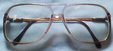 "Vintage Luxottica ""CARL"" Lite Brown Eyeglasses FRAME ONLY 140 ITALY"