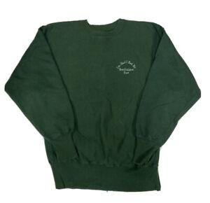 Vintage Champion Green Reverse Weave Sweater Size Large USA