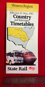 Western Region country and interstate timetables, State Rail, 1987, Sydney, Aus