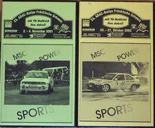 2 x vidéo Best of Rallye franconien Suisse 2001 & 2002-bmw m3, Ford Escort,...