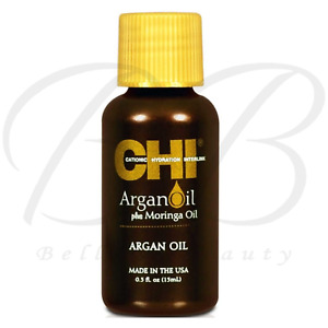 FAROUK CHI Argan Oil Plus Moringa Hair Oil Antioxidants Vitamin E 15ml *NEW*