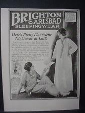 1922 Brighton Carlsbad Sleepingwear Fashion Clothing Vintage Print Ad 12104