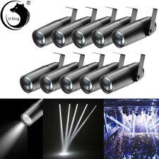 U`King 10Pcs 10W Stage Lighting Led Pinspot Spotlight Dj Disco Party Show Light
