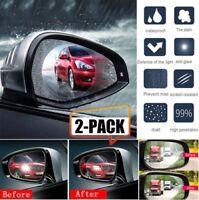 2X Car Anti Water Mist Film Anti Fog Rainproof Rearview Mirror Protective Films