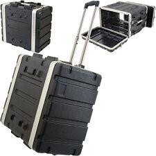 """19 """" 6U ABS matériel flight case trolley-Mélangeur / patch panel rack stockage poignée"""