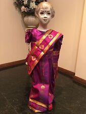 "24"" Age 4 Fancy Bollywood  Indian Readymade Saree Sari Girls Kids Dress R2"