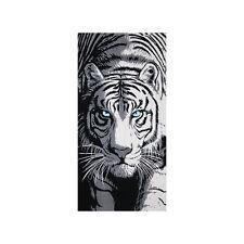 Tiger Beach Towel, 100% Cotton Soft Absorbent Tiger's Eye Turkish Bath Towel