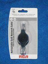 RCA TPH525 4ft Retractable Cat 5 Network Cable New!
