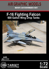 Air-Graphics AC-111 F-16 600g wing drop tanks and pylons in 1/72 scale