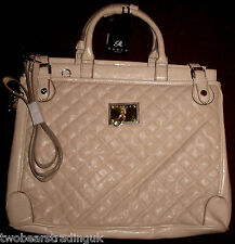 MARLA OF LONDON AMY LADIES' STONE QUILTED LARGE HANDHELD HANDBAG (New/Tag)
