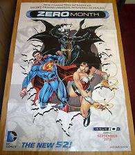 DC Comics New 52 Zero Month promotional poster - batman  superman  wonder woman