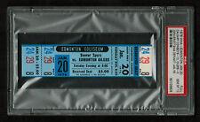 PSA 10 DENVER SPURS/CALGARY COWBOYS at EDMONTON OILERS 1976 Unused WHA Ticket