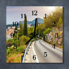 Glass Wall Clock Kitchen Clocks 30x30 cm silent Way Nature Multi-Coloured