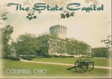 Columbus Ohio State Capitol Greek Revival Architecture Cannon Vintage PC Rare