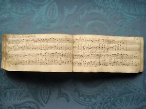 CHORALBUCH UM 1750 MANUSKRIPT 325 SEITEN HANDSCHRIFT LITURGIE NOTEN GESANG