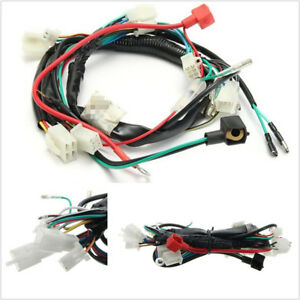 Motorcycles Machine Electric Start Wiring Harness For 50cc 70cc 90cc 110cc 125cc