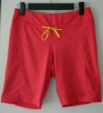 Puma Training Womens Long Shorts Pink Gym Wear Sz S