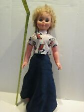 Vintage Doll 30 Inch Uneeda Hard Plastic Sleep Eyes Child Size Braided Hair