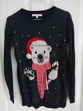 Next navy bear Christmas jumper UK 10