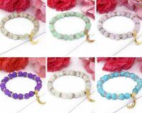 Fashion Beaded Women Bracelet Jewelry Natural Crystal Gemstone Bangle For Girls