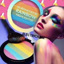 RAINBOW HIGHLIGHT HIGHLIGHTER SHIMMER UNICORN COLORFUL PASTEL FACE POWDER MAKEUP