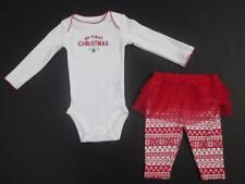 CARTER'S CARTERS GIRLS 2PC 1ST CHRISTMAS ROMPER & TUTU PANTS SET 3 MOS NWT