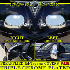 2000-2006 GMC YUKON, YUKON XL, DENALI Full Triple Chrome Mirror Cover Overlays