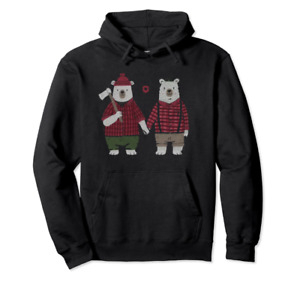 Gay Bear Couple Cute Bear Lovely Gift for Lgbt Couple Black Hoodie S to 5 Xl