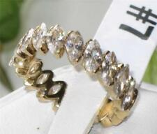 Anillos de bisutería color principal oro de acero inoxidable circonita