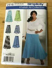 Simplicity Khaliah Ali Collection Skirts pattern #2416 Size 20W-28W UNCUT