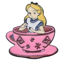 1 1/2″ Tall Metal Enamel Pin Alice in The Wonderland Tea Cup