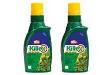 2 x 1L BOTTLES - KILLEX WEED KILLER CONCENTRATE - 286L mixed! Safer & Easier!