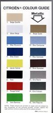 Citroen Exterior Colours 1977 UK Single Sheet Brochure 2CV Dyane Ami GS CX