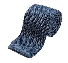 "Benchmark Ties 100% Silk Knit Tie in Blue Gray (2.5"" / 6.5cm Wide)"