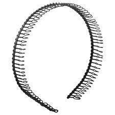 Practical Black Metal Teeth Comb Hairband Hair Hoop Headband For Woman M1