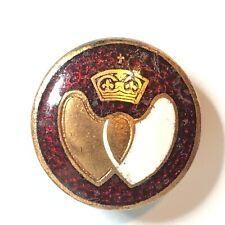 Vintage blood Donor lapel Badge brass Back 22 mm