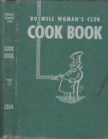1950 Vtg Roswell Woman's Club Cook Book New Mexico NM Advertisements Alien City