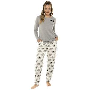 Ladies Koala Print Cotton Rich Pyjama / Pajama Set