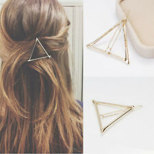 New Women's Grils Korean Style Gold Triangle Hairpin Hair Clip Hair Accessories