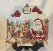 Fitz and Floyd Deer Santa Canape Plate